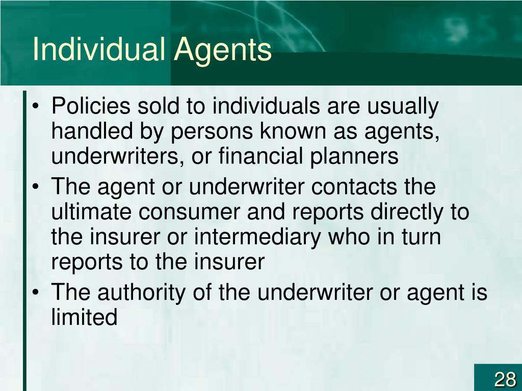 Individual Agents