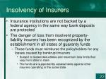 insolvency of insurers