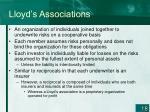 lloyd s associations