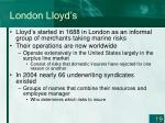 london lloyd s