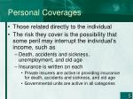 personal coverages
