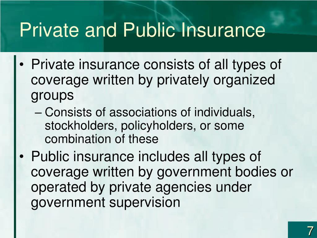 Private and Public Insurance