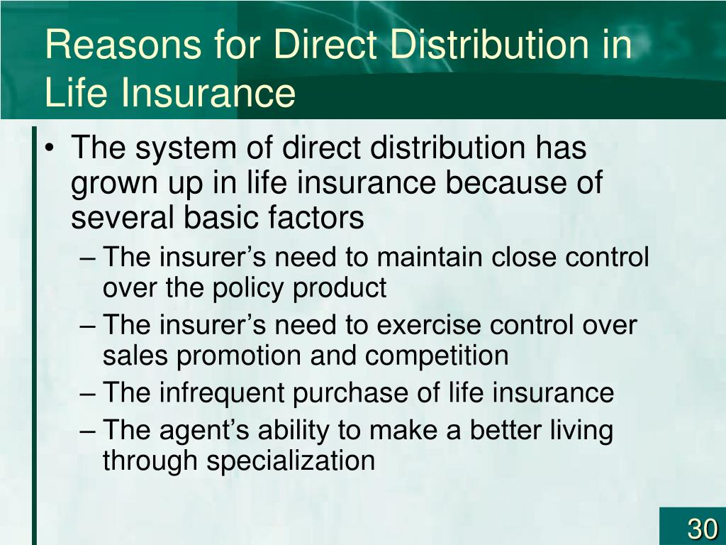 Reasons for Direct Distribution in Life Insurance