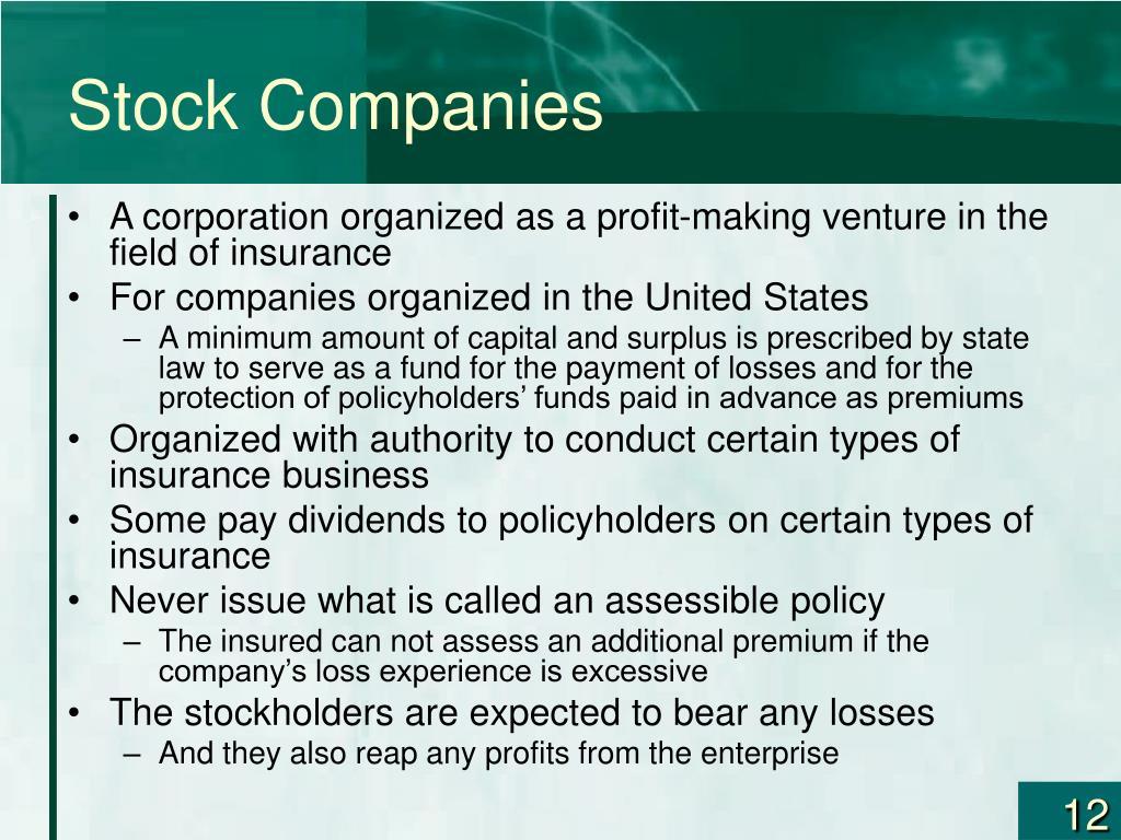 Stock Companies