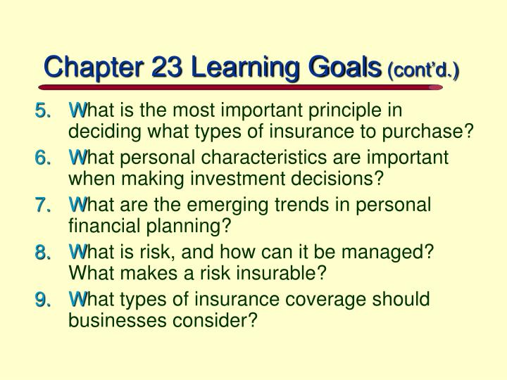 Chapter 23 learning goals cont d
