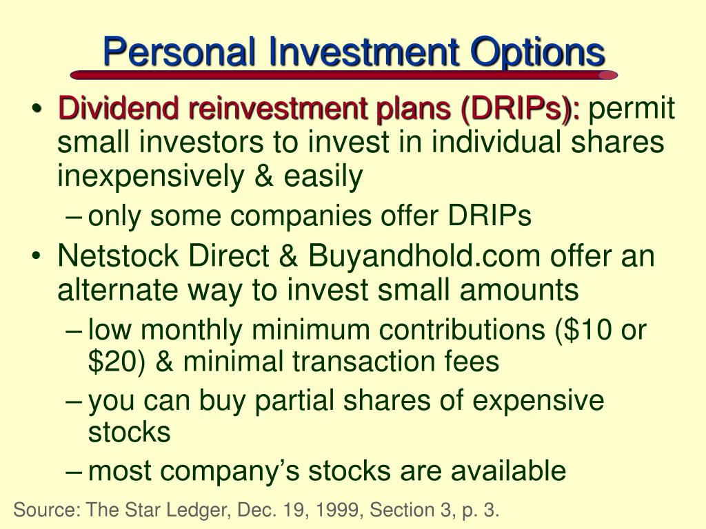 Personal Investment Options