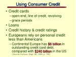 using consumer credit11