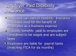 employer paid disability insurance