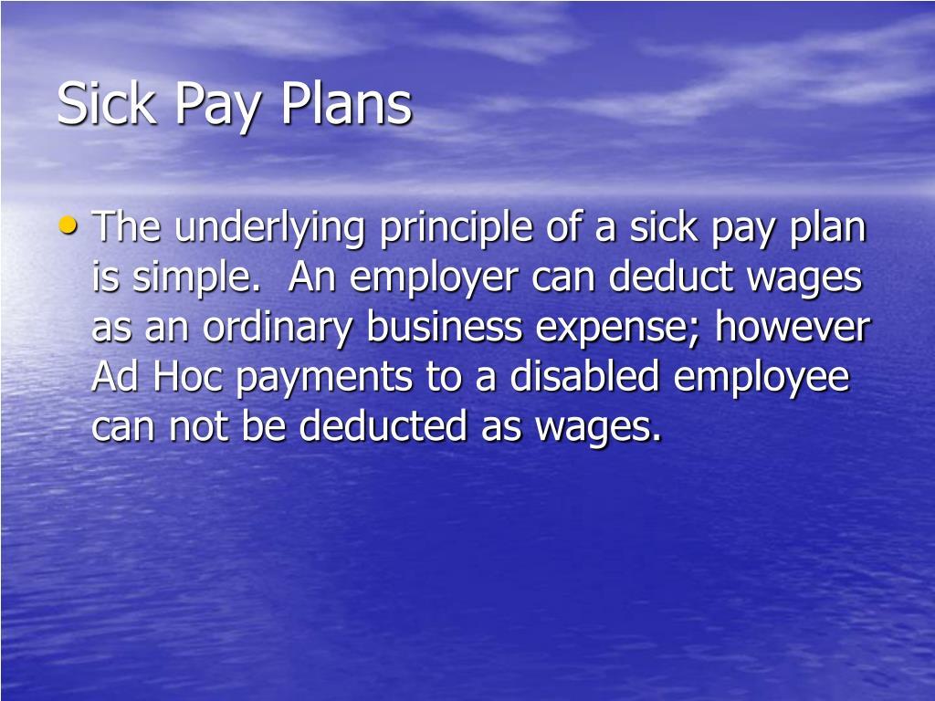 Sick Pay Plans
