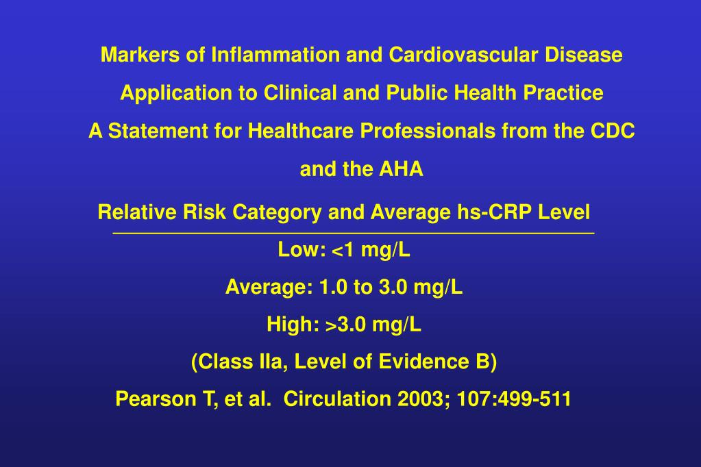 Markers of Inflammation and Cardiovascular Disease