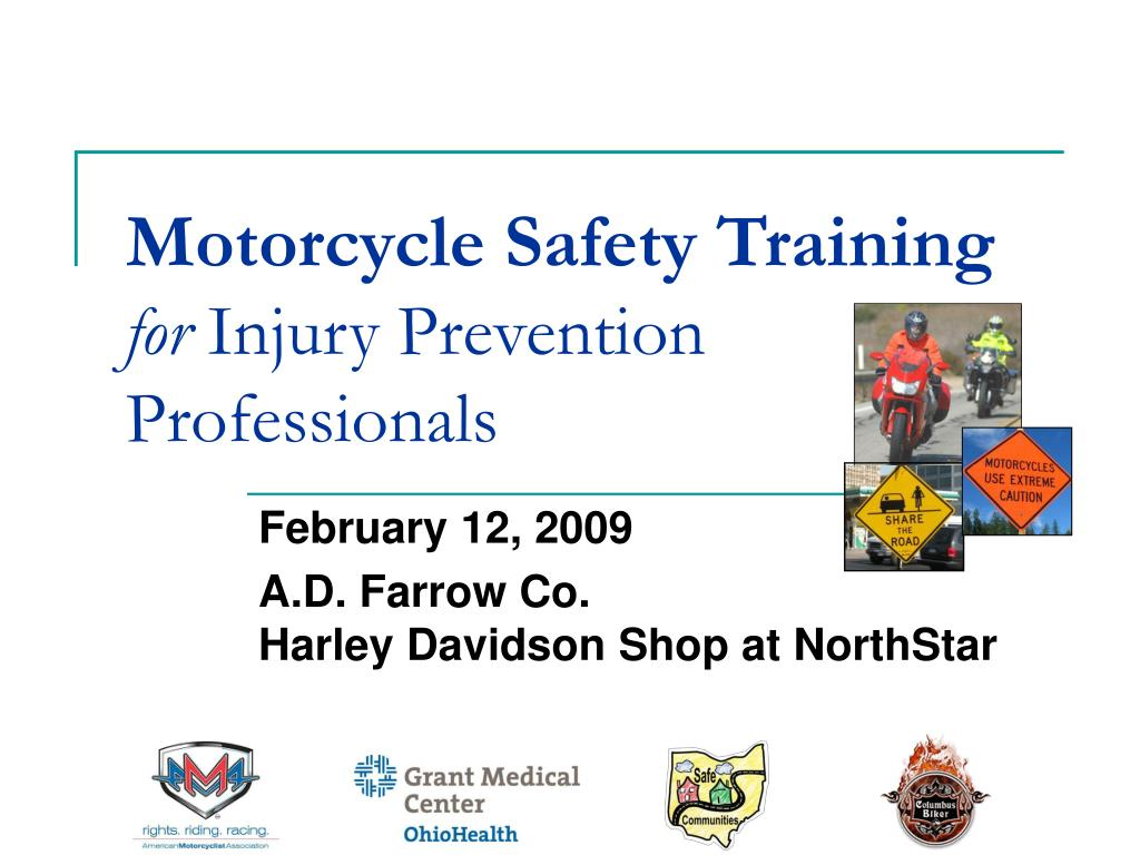 motorcycle safety training for injury prevention professionals l.