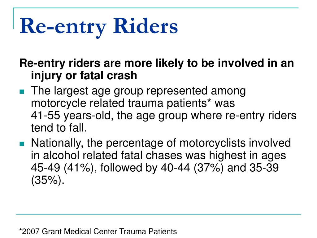 Re-entry Riders