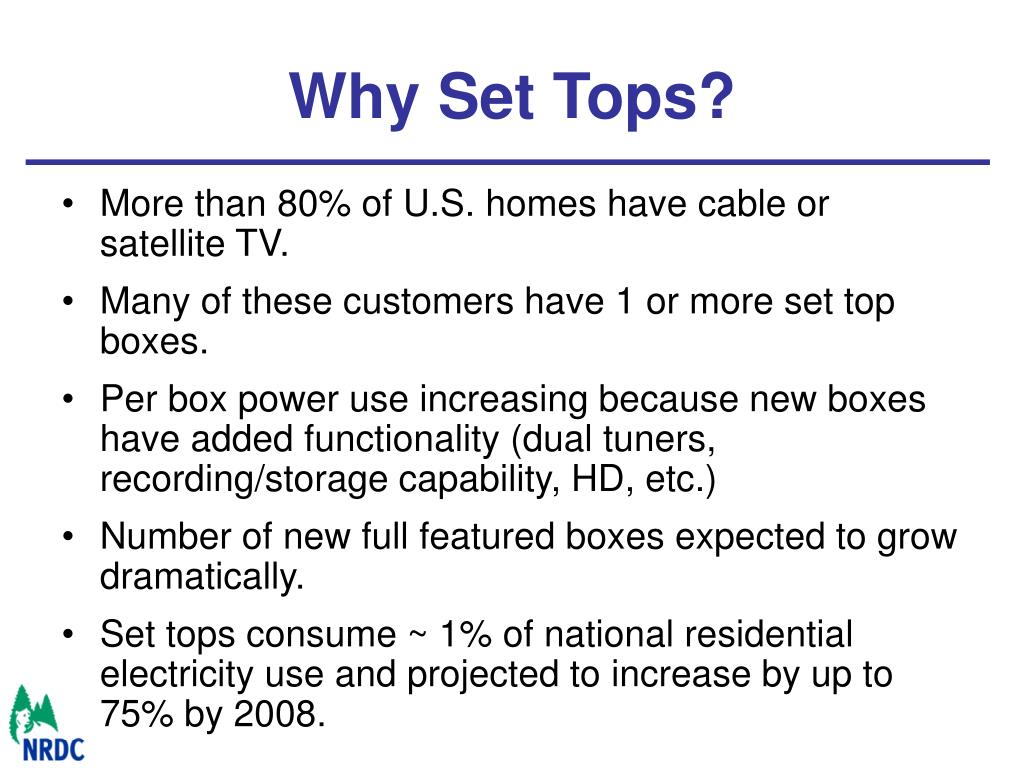 Why Set Tops?