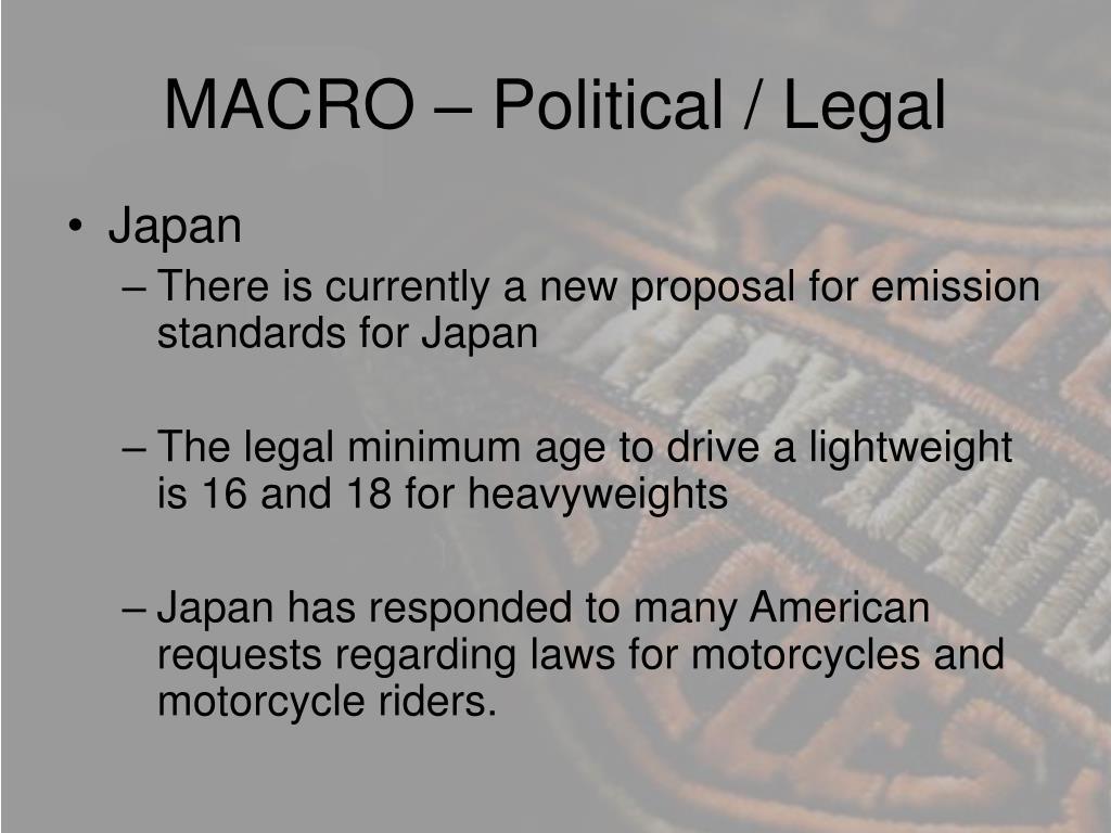 MACRO – Political / Legal