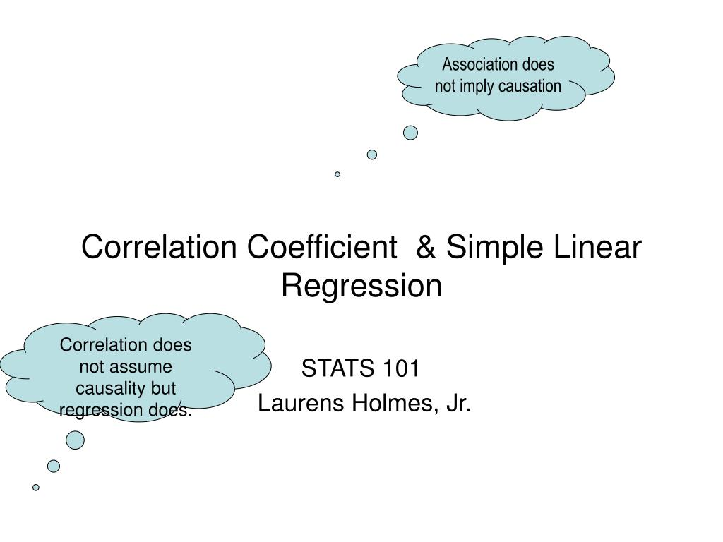correlation coefficient simple linear regression l.