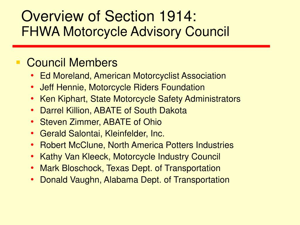 Overview of Section 1914:
