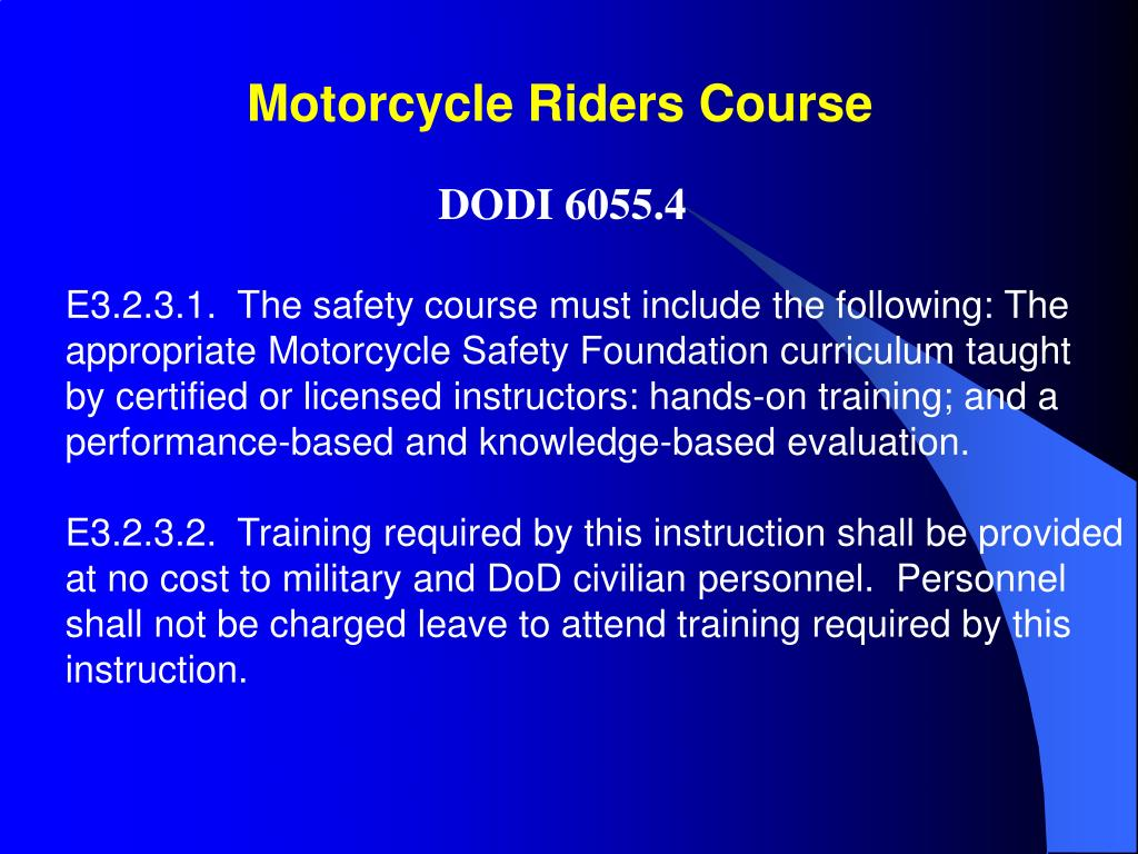 Motorcycle Riders Course