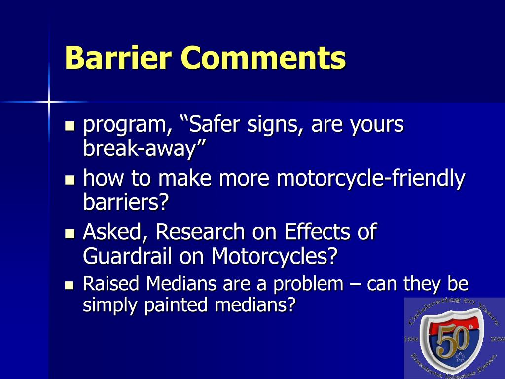Barrier Comments