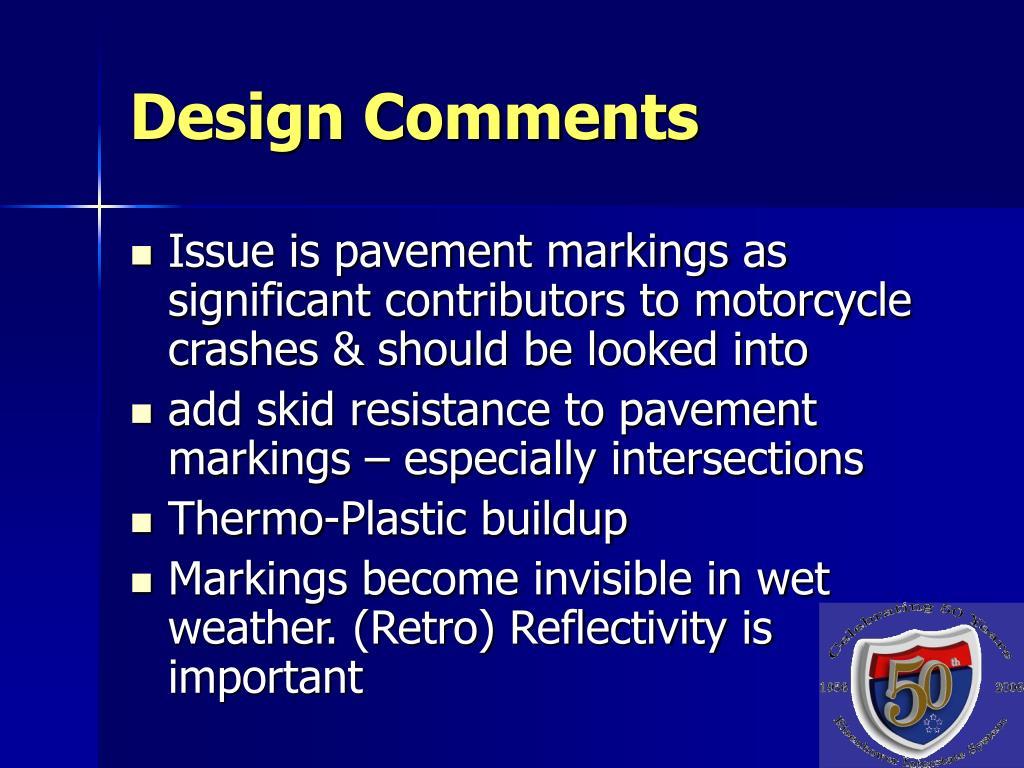 Design Comments