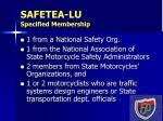safetea lu specified membership5