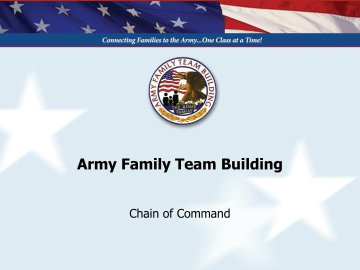 army family team building n.