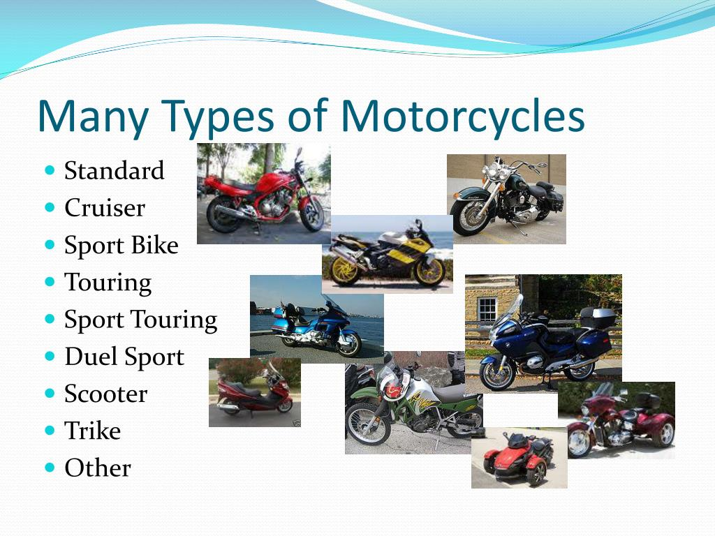 Many Types of Motorcycles