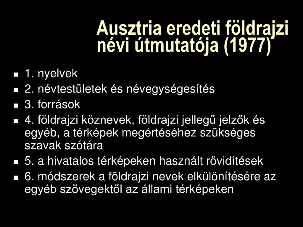 Ausztria eredeti földrajzi névi útmutatója
