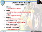causes that result in accidents