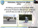personal protective gear ppe