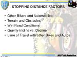 stopping distance factors