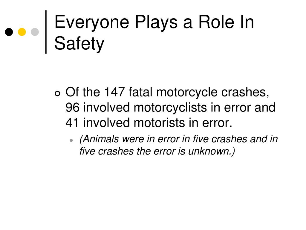 Everyone Plays a Role In Safety