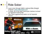 ride sober