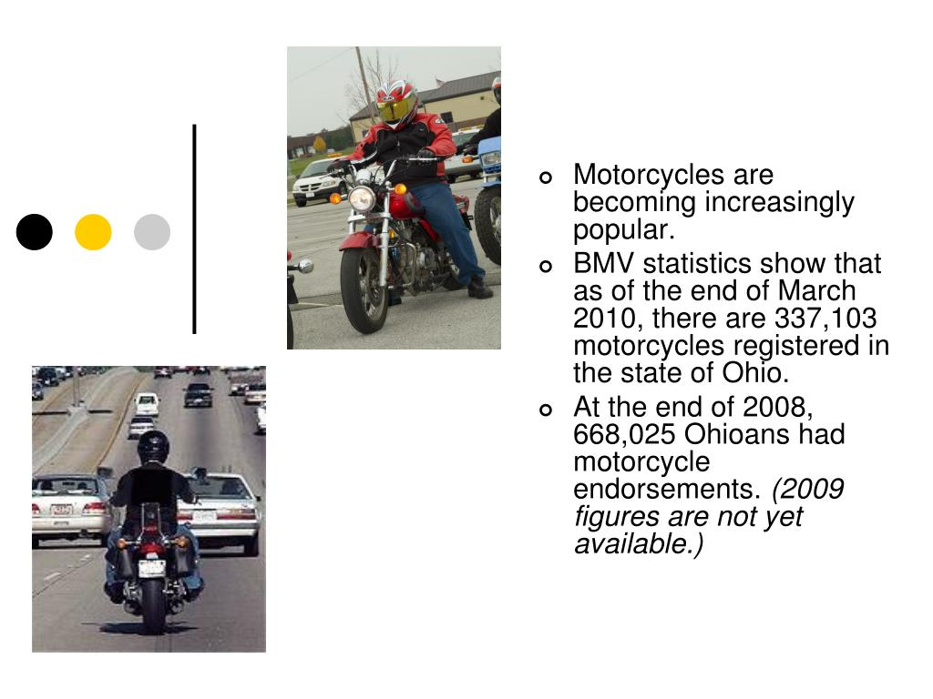 Motorcycles are becoming increasingly popular.