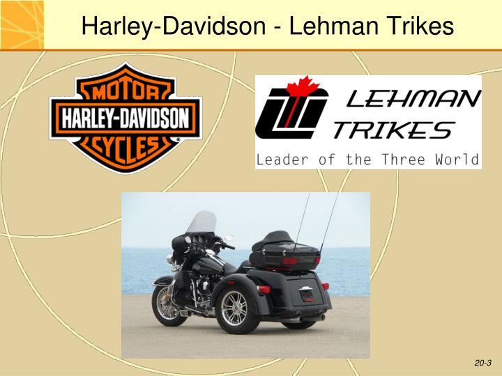 Harley davidson lehman trikes