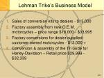 lehman trike s business model
