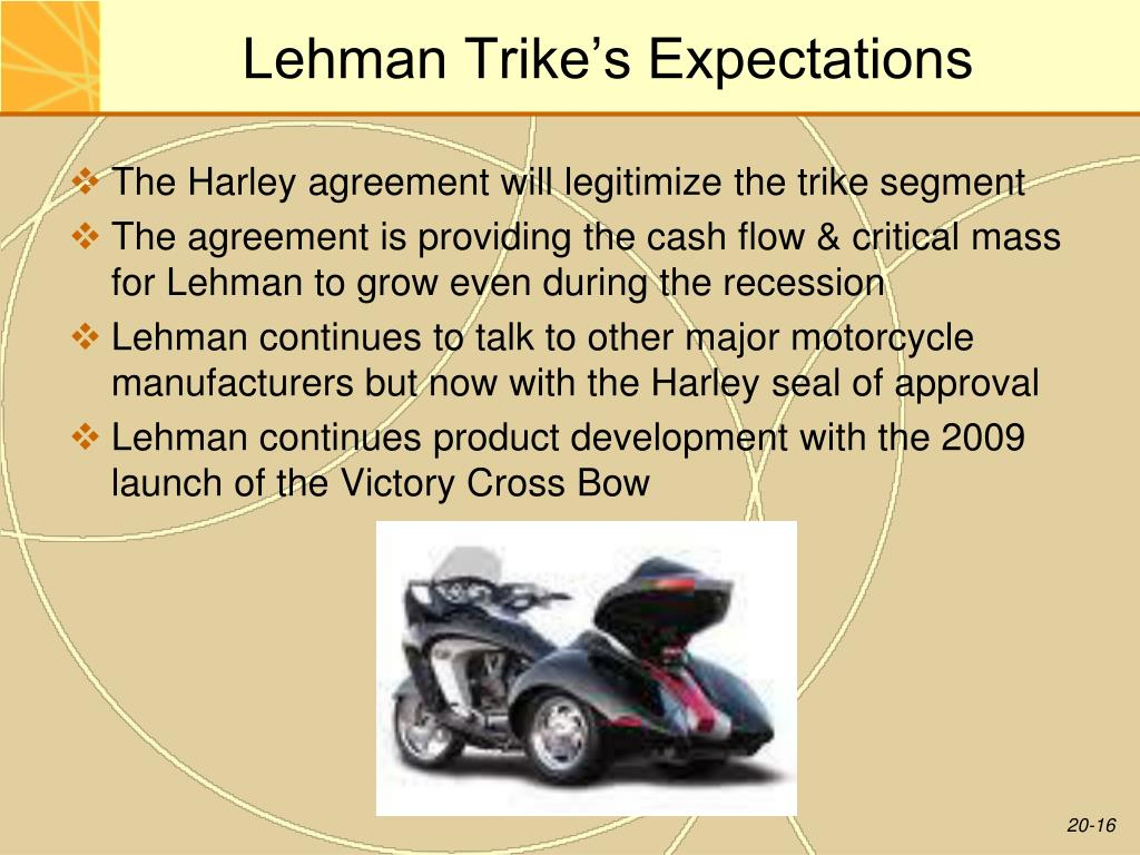 Lehman Trike's Expectations