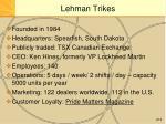 lehman trikes