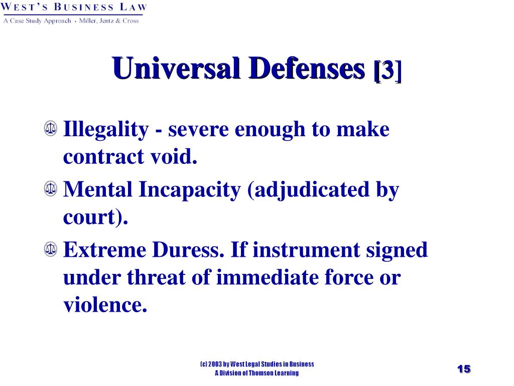 Universal Defenses