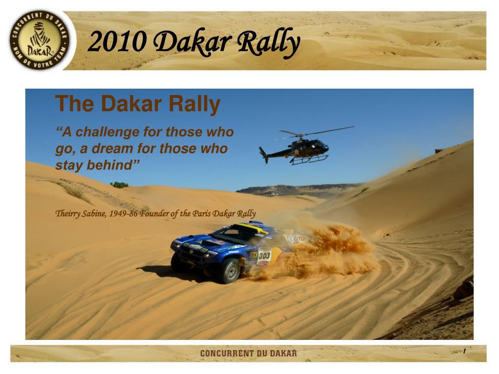 2010 dakar rally l.