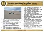 sponsorship benefits silver 5 000