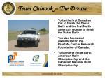 team chinook the dream