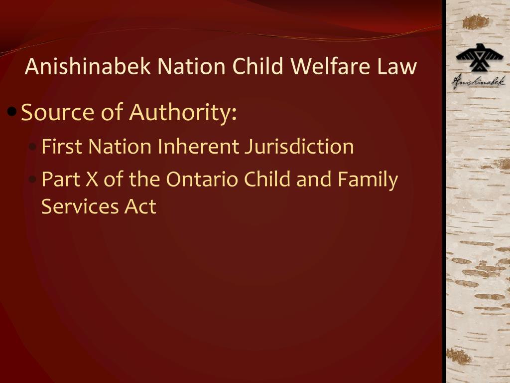 Anishinabek Nation Child Welfare Law