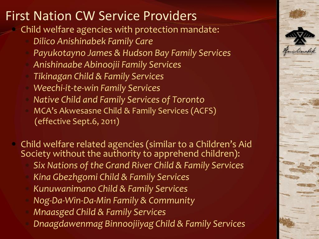 First Nation CW Service Providers