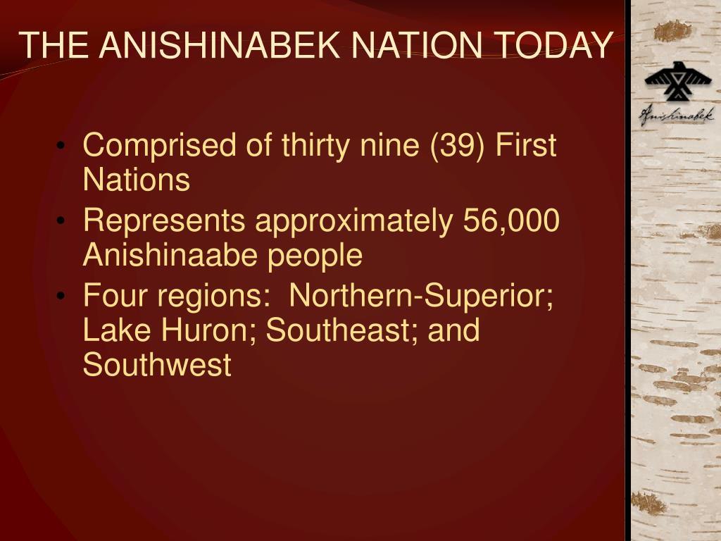 THE ANISHINABEK NATION TODAY