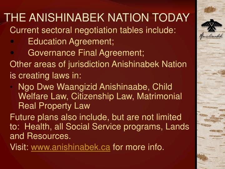 The anishinabek nation today3