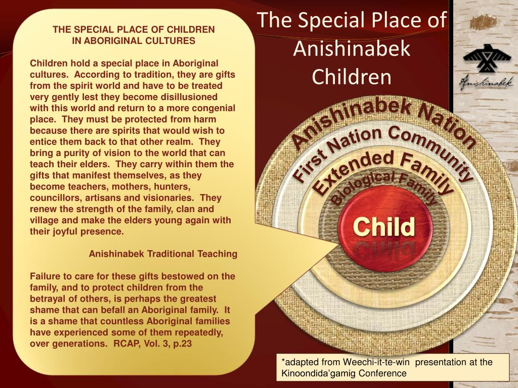 THE SPECIAL PLACE OF CHILDREN