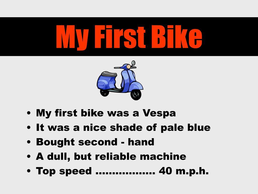 My First Bike