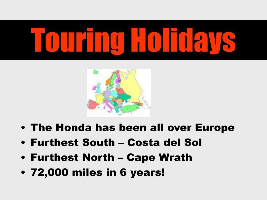 Touring Holidays