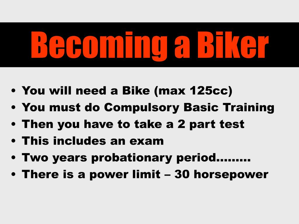 Becoming a Biker