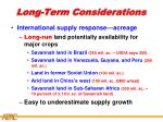 long term considerations25